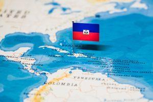 haiti map and flag
